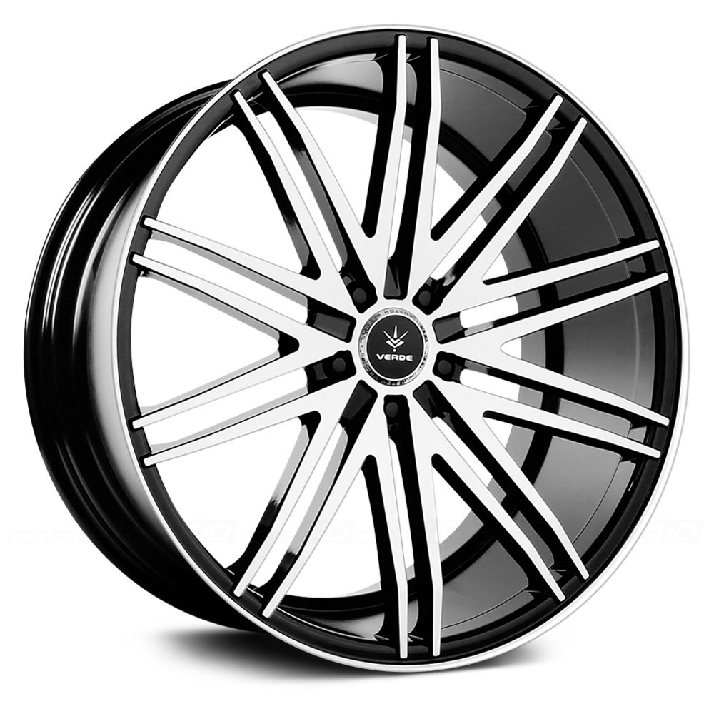 Verde 174 Impulse Wheels Gloss Black With Machined Face And