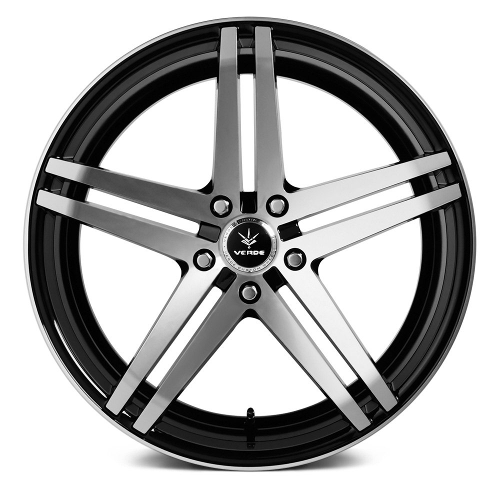 Verde 174 Parallax Wheels Gloss Black With Machined Face