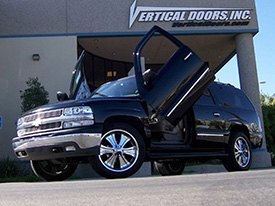 Vertical Doors Installed on Chevy Suburban