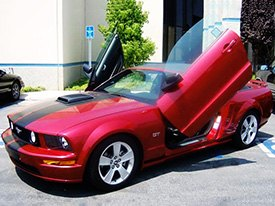 Vertical Doors Installed on Ford Mustang