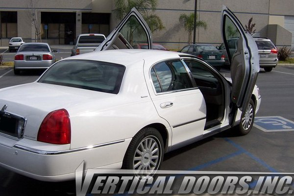 vertical doors vdcltc9806 lincoln town car 2003 lambo door conversion kit. Black Bedroom Furniture Sets. Home Design Ideas
