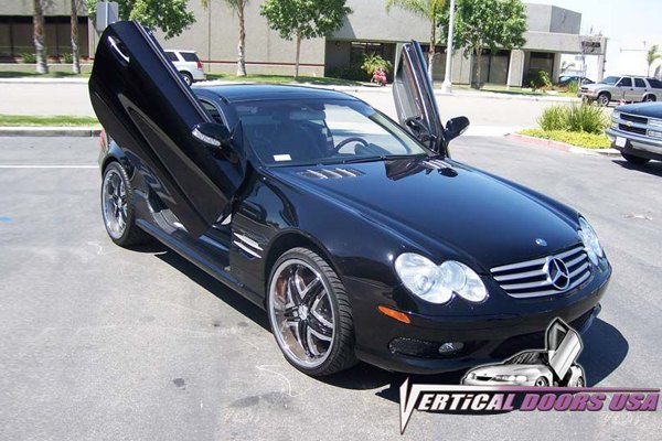 Garage Door Kit >> Vertical Doors® VDCMERSL0310 - Mercedes SL Class 2003-2010 Lambo Door Conversion Kit