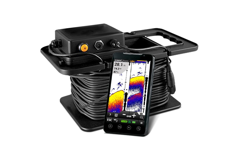 Vexilar sonarphone fish finders ice fishing for Ice fishing electronics