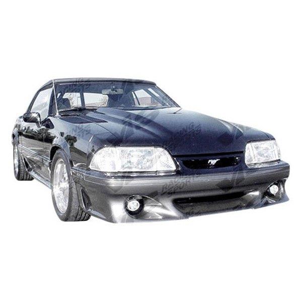 vis racing ford mustang 2 doors 1990 stalker 2 style fiberglass bumpers. Black Bedroom Furniture Sets. Home Design Ideas