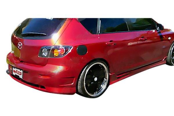 vis racing mazda 3 hatchback 2004 viper style fiberglass bumpers. Black Bedroom Furniture Sets. Home Design Ideas