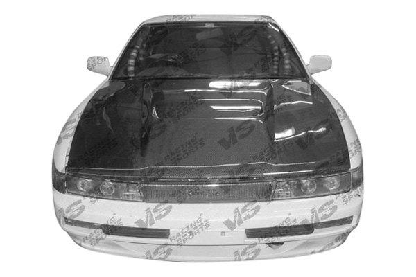 Vis racing nissan 240sx 1989 1991 invader style carbon fiber hood 240sx carbon fiber interior