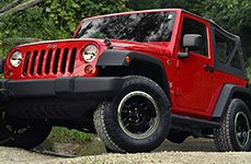 VISION OFF-ROAD® - MANX Gloss Black with Machined Flange on Jeep Wrangler