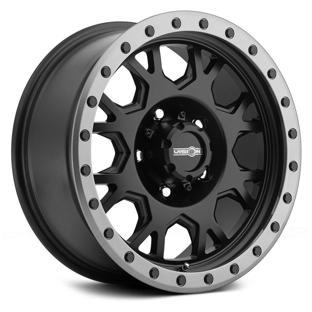 Vision Off Road 174 Gv8 Invader Wheels Matte Black With