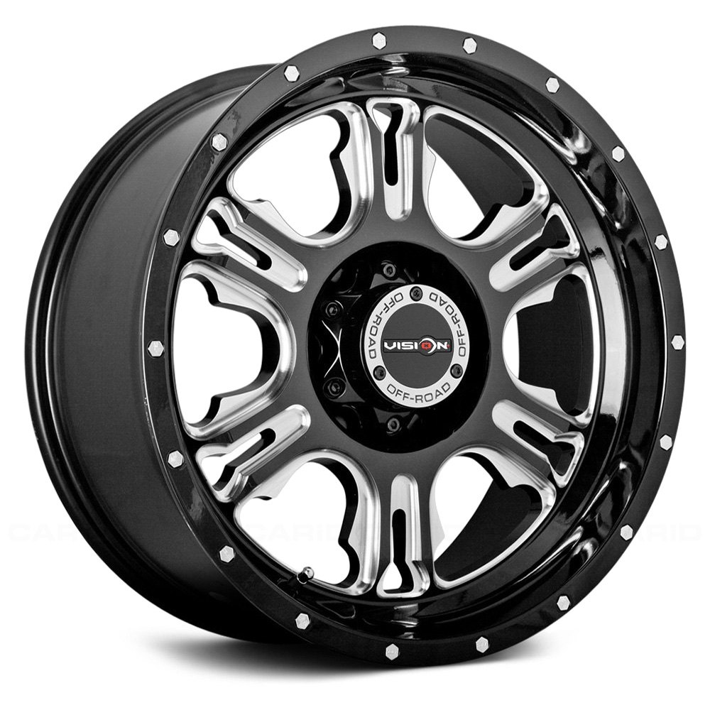 Vision Off Road 174 Rage Wheels Gloss Black With Milled