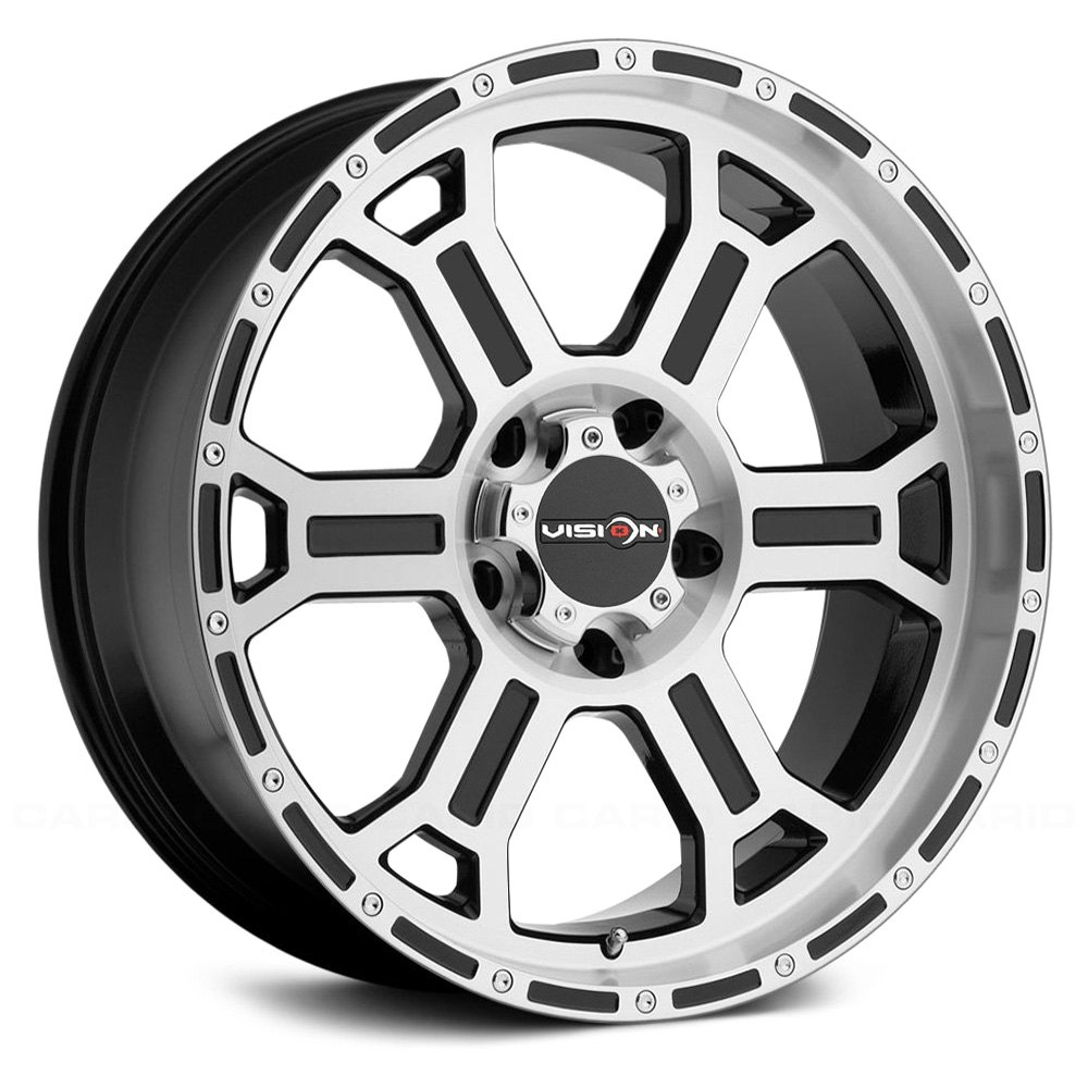 Vision Off Road 174 372 Raptor Wheels Gloss Black With