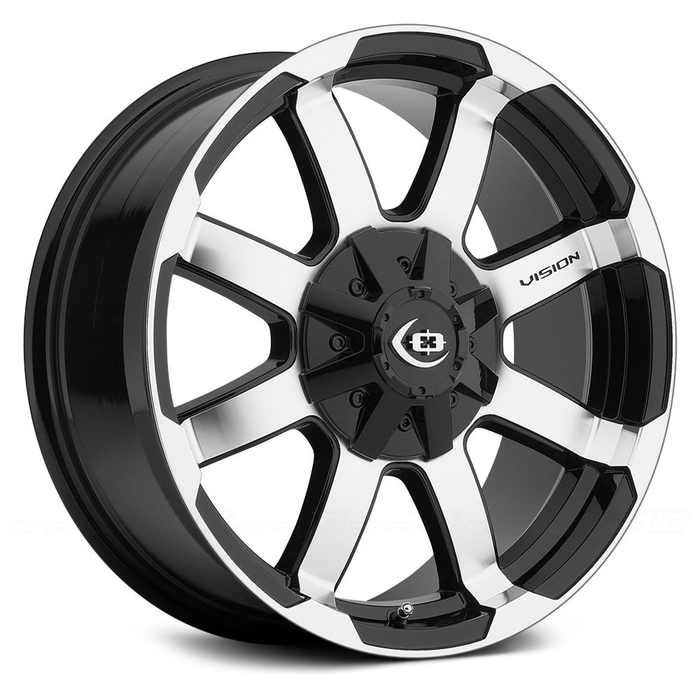 Vision Off Road 174 Valor Wheels Gloss Black With Machined