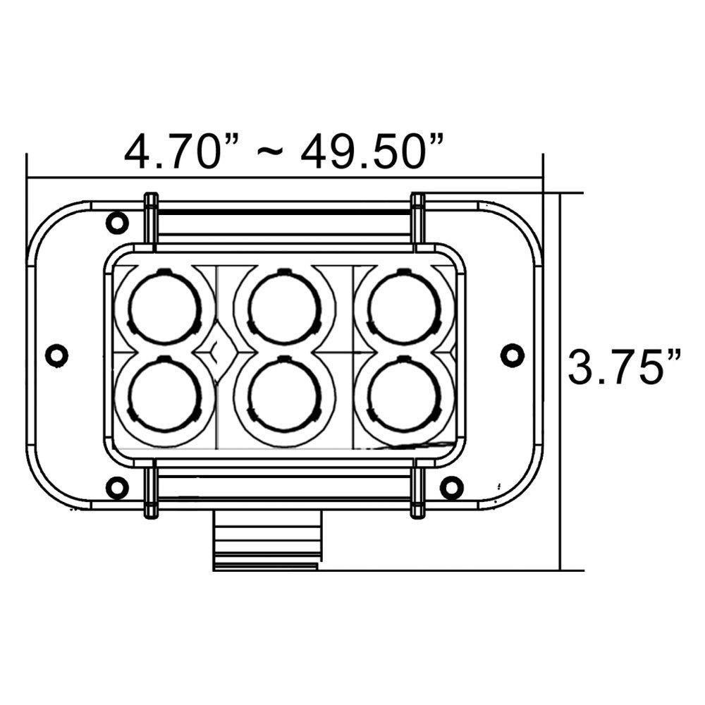 Xtreme Led Light Bar Wiring Diagram Detailed Schematics Trailer Vision X 9115603 Xmitter Prime 8 60w Dual Row Narrow Beam