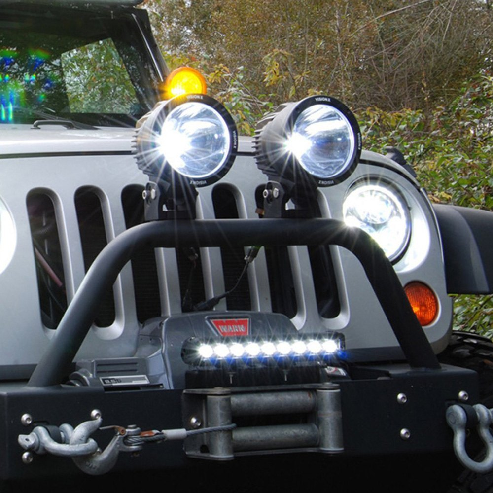 Vision x 9892344 winch fairlead mounted xmitter low profile installed vision x winch fairlead xmitter low profile xtreme led light bar kit mozeypictures Images