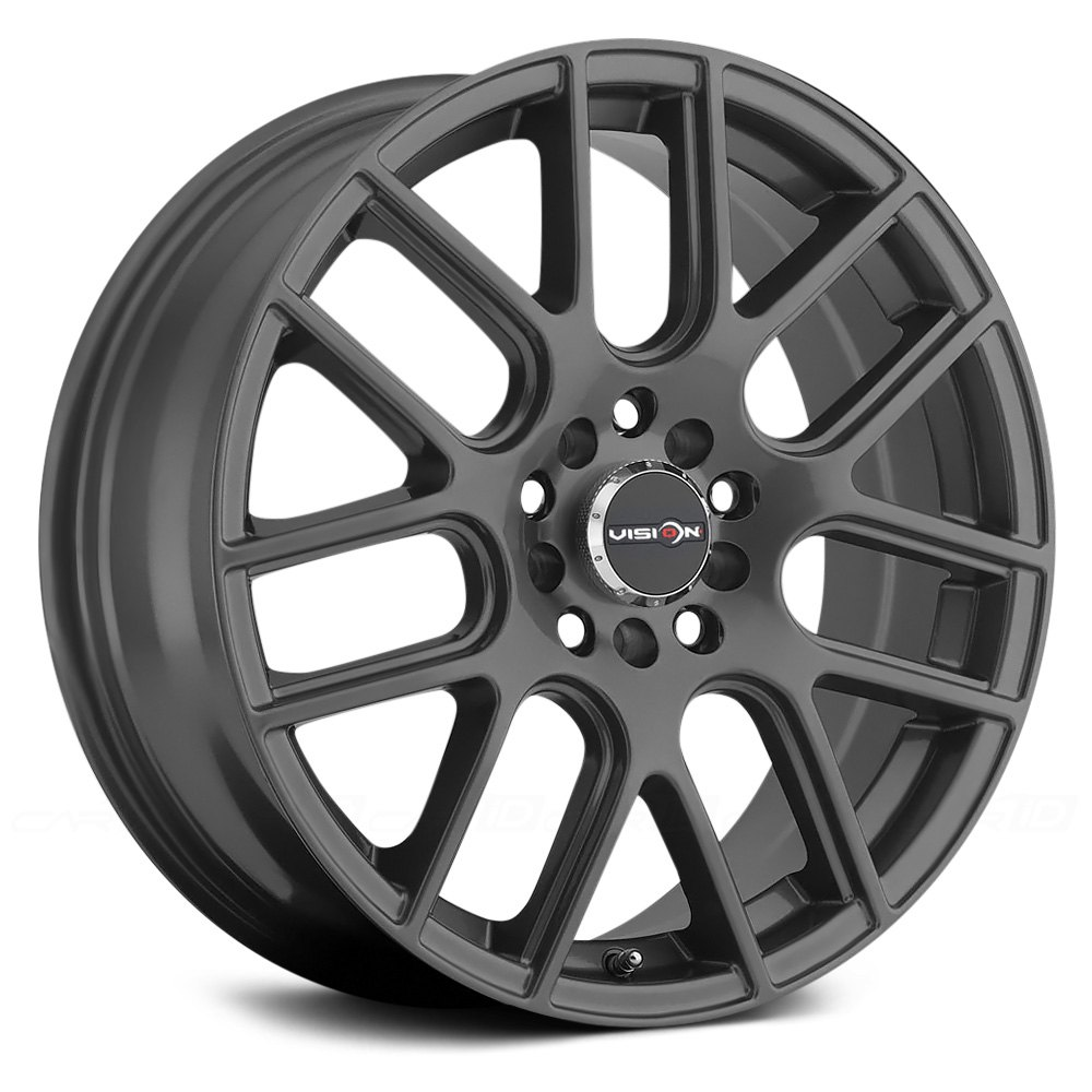 Vision 174 Cross Wheels Gunmetal Rims