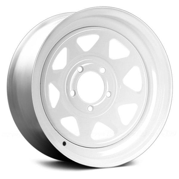 White Wheel Rims : Vision spoke trailer wheels white rims