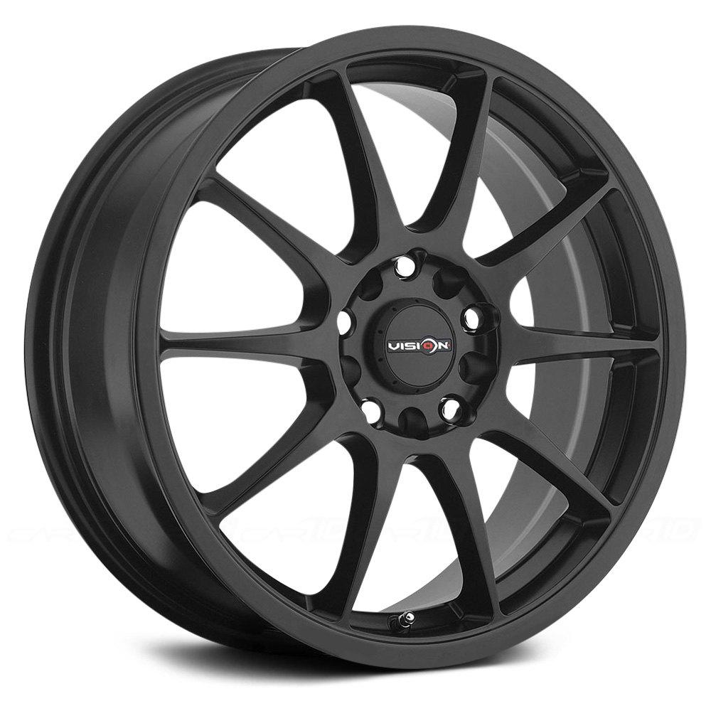 Vision 174 425 Bane Wheels Matte Black Rims