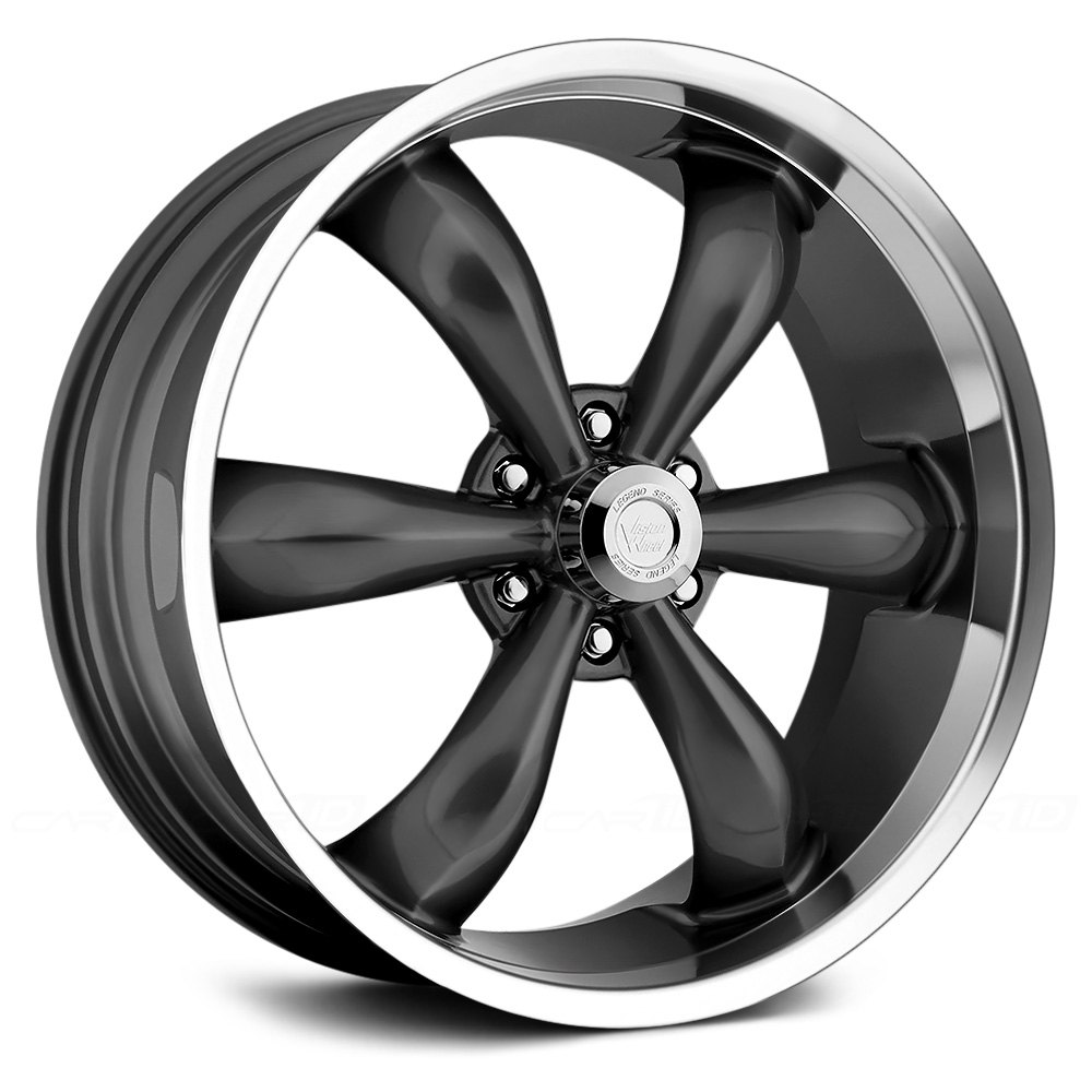 VISION® 142 LEGEND 6 Wheels - Gunmetal with Machined Lip Rims