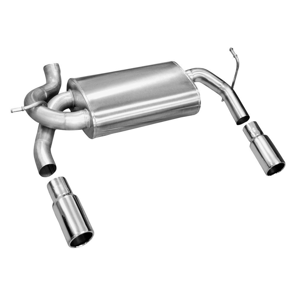 Volant stainless steel dual axle back exhaust system