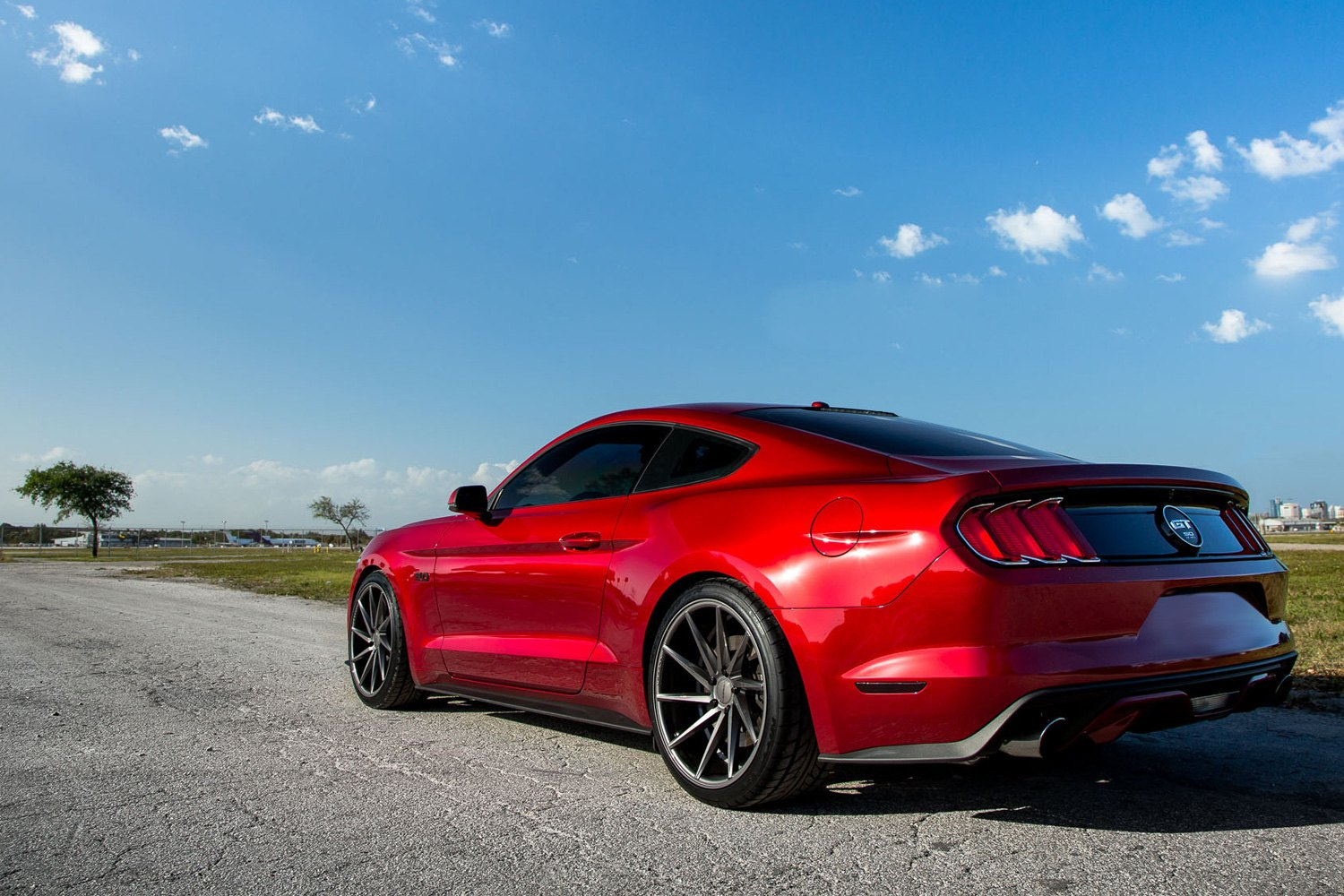Vossen Vvscvt Gloss Graphite Ford Mustang on Is350 Rims