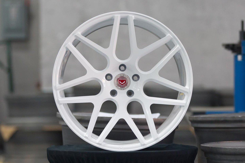 White Wheel Rims : Vossen vps wheels custom finish rims
