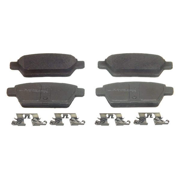 Wagner ThermoQuiet QC1192 Ceramic Disc Pad Set With Installation Hardware Front