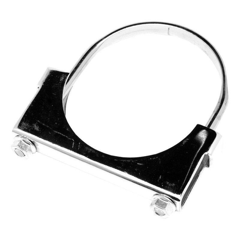 Walker steel chrome flat strap u bolt clamp