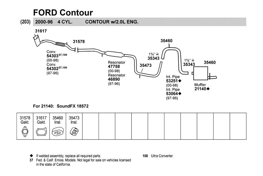 Ford Contour Exhaust Diagram