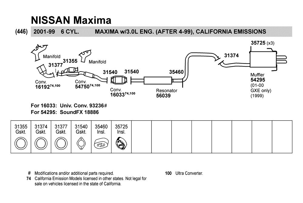 2001 Nissan Maxima Exhaust System Diagram
