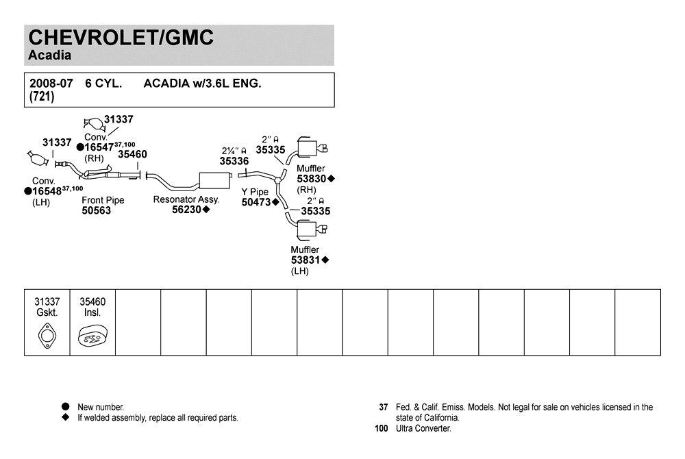 Walker U00ae - Exhaust System Scheme Images