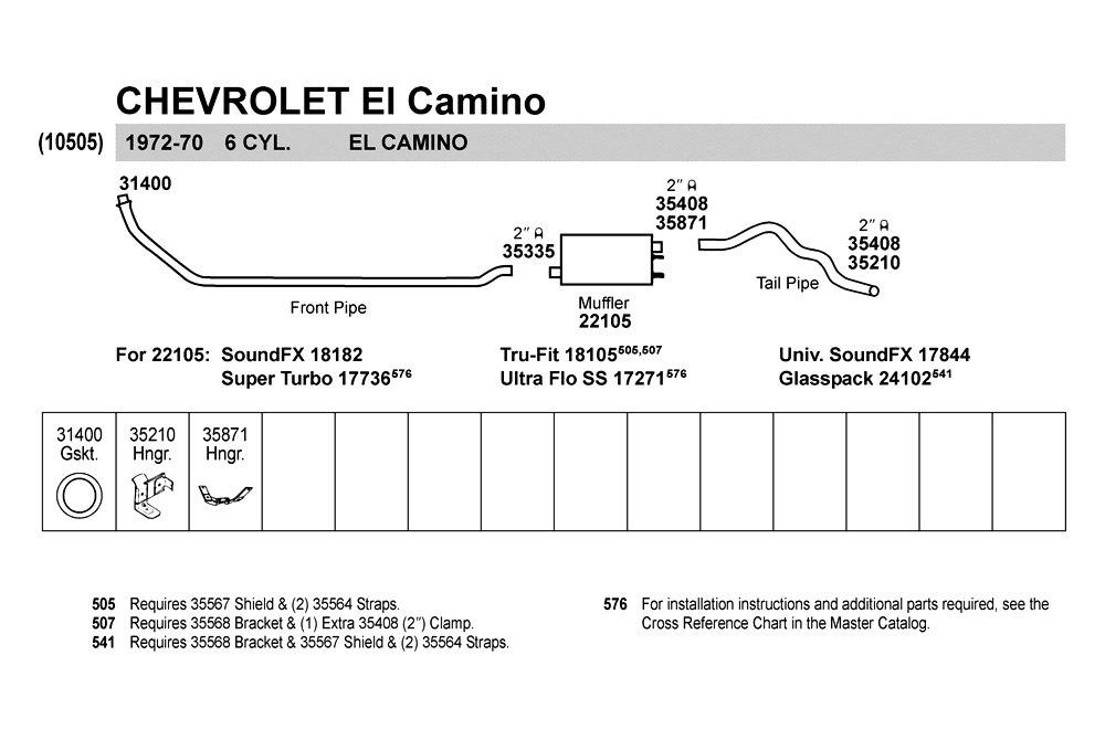 Walker® 35210  Chevy El Camino 19701972 Hanger