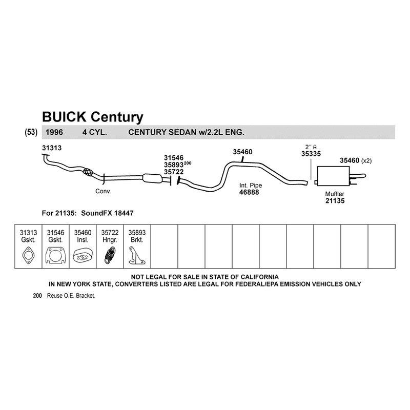 Buick Century 1996 Intermediate Pipe
