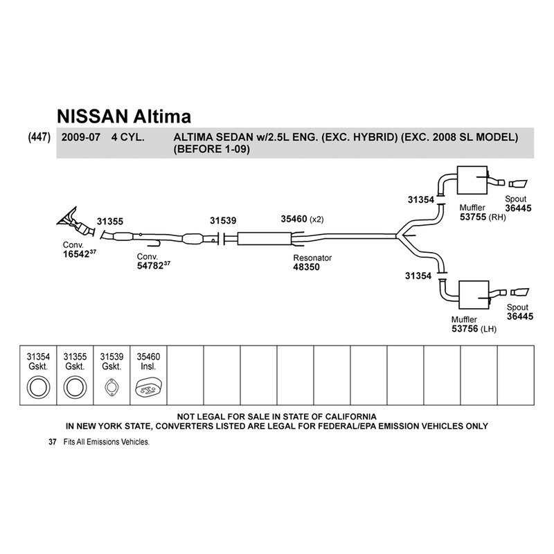 31 Nissan Altima 2007 Parts Diagram