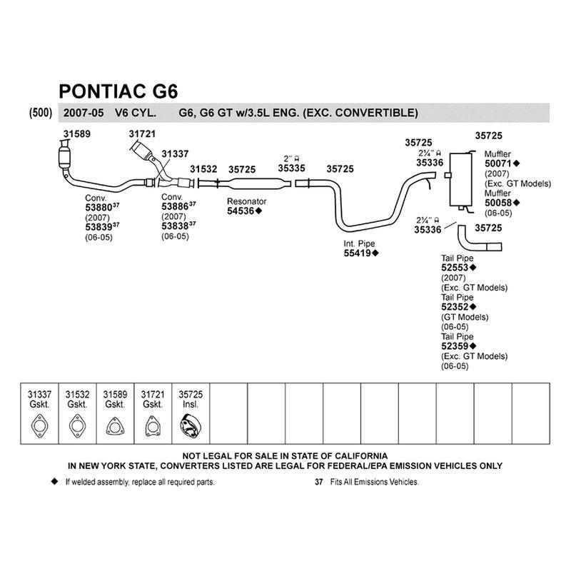 2008 2 4 pontiac g6 exhaust diagram 2009 dodge ram 1500