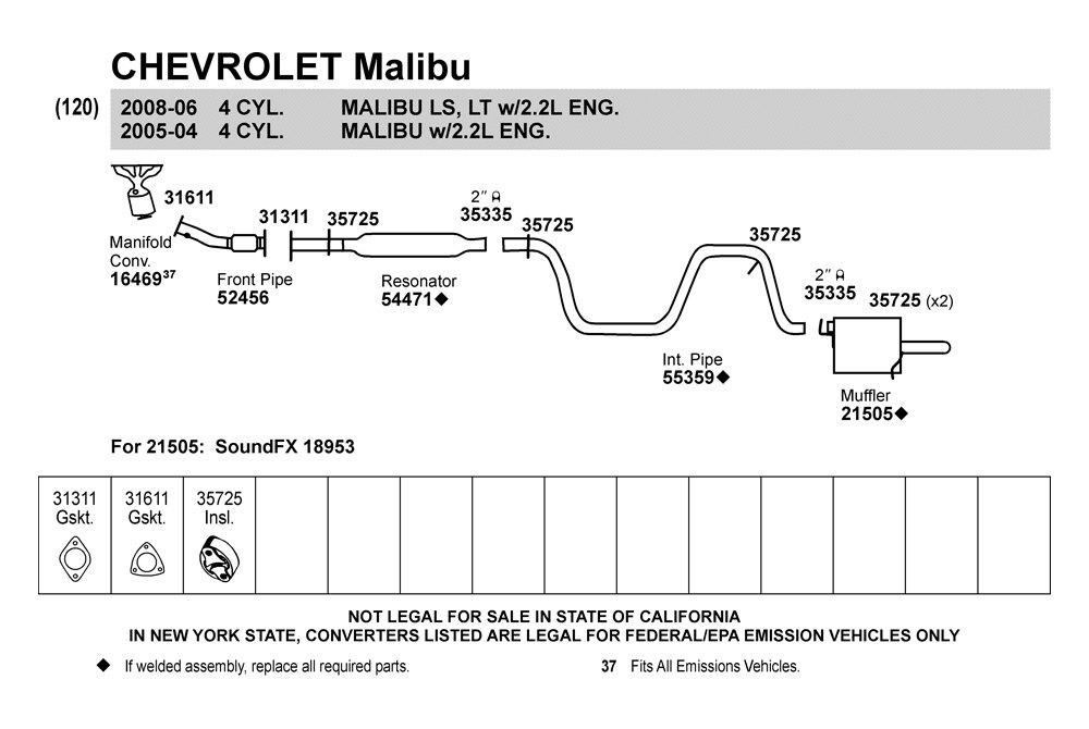 chevy malibu parts diagram