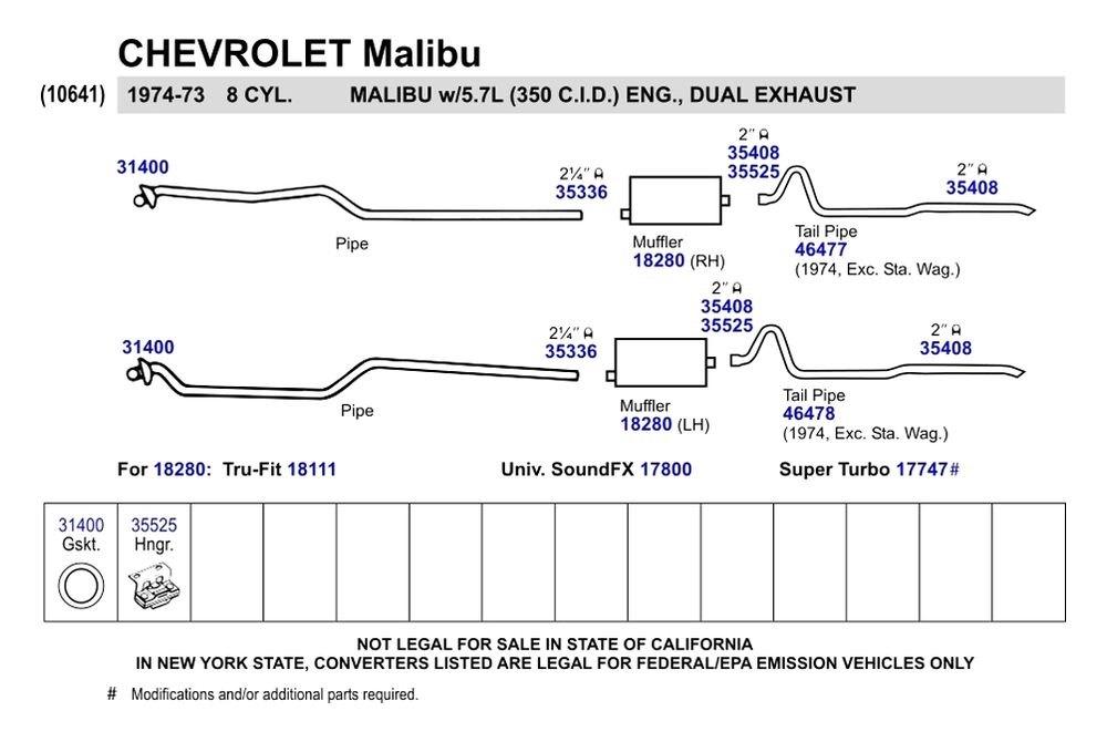 Walker® 18280 - SoundFX™ Aluminized Steel Direct Fit Exhaust Muffler