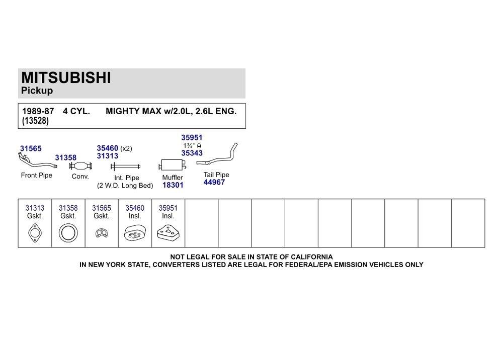 Walker mitsubishi mighty max  exhaust gasket