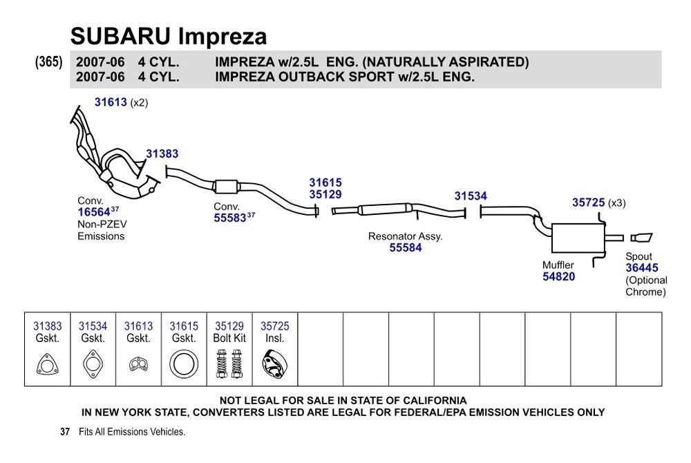 Subaru Impreza Exhaust System Diagram 28 Images Subaru Wrx Exhaust Parts Diagram Subaru Free