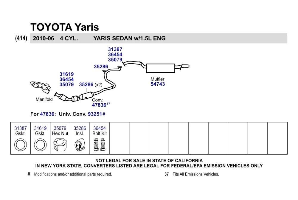 body kit yaris  walker reg toyota yaris 2008 replacement exhaust kit