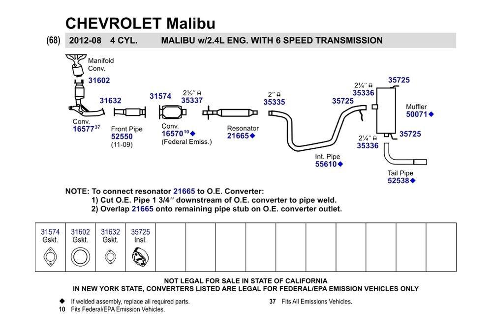 Walker® 31602 - Metal with Fiber Core Donut Exhaust Gasket