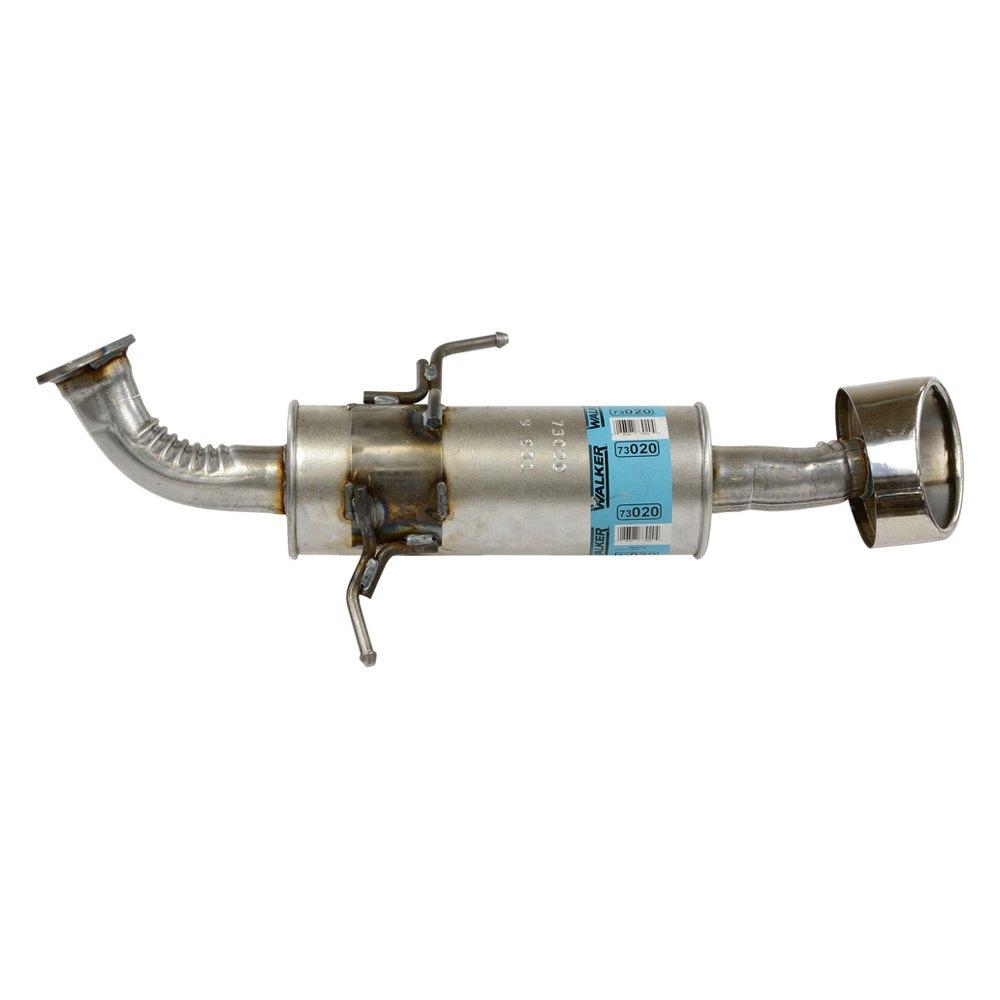Exhaust Resonator SoundFX Stainless Steel Round Aluminized Exhaust Resonator