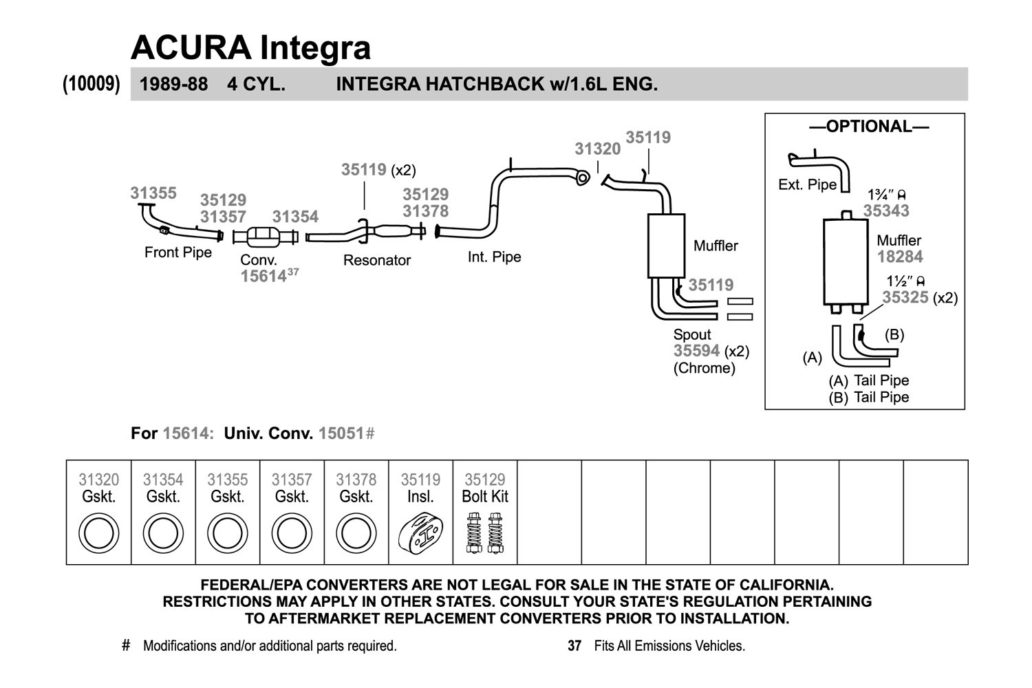 Acura Integra Muffler Diagram DIY Enthusiasts Wiring Diagrams - 1990 acura integra muffler