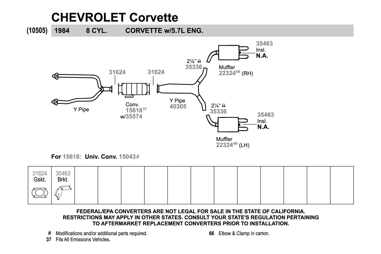 Exhaust Muffler-Quiet-Flow SS Muffler Walker 22324 fits 1984 Chevrolet Corvette