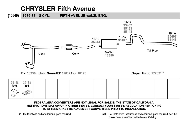 Exhaust Muffler-SoundFX Direct Fit Muffler Walker 18350