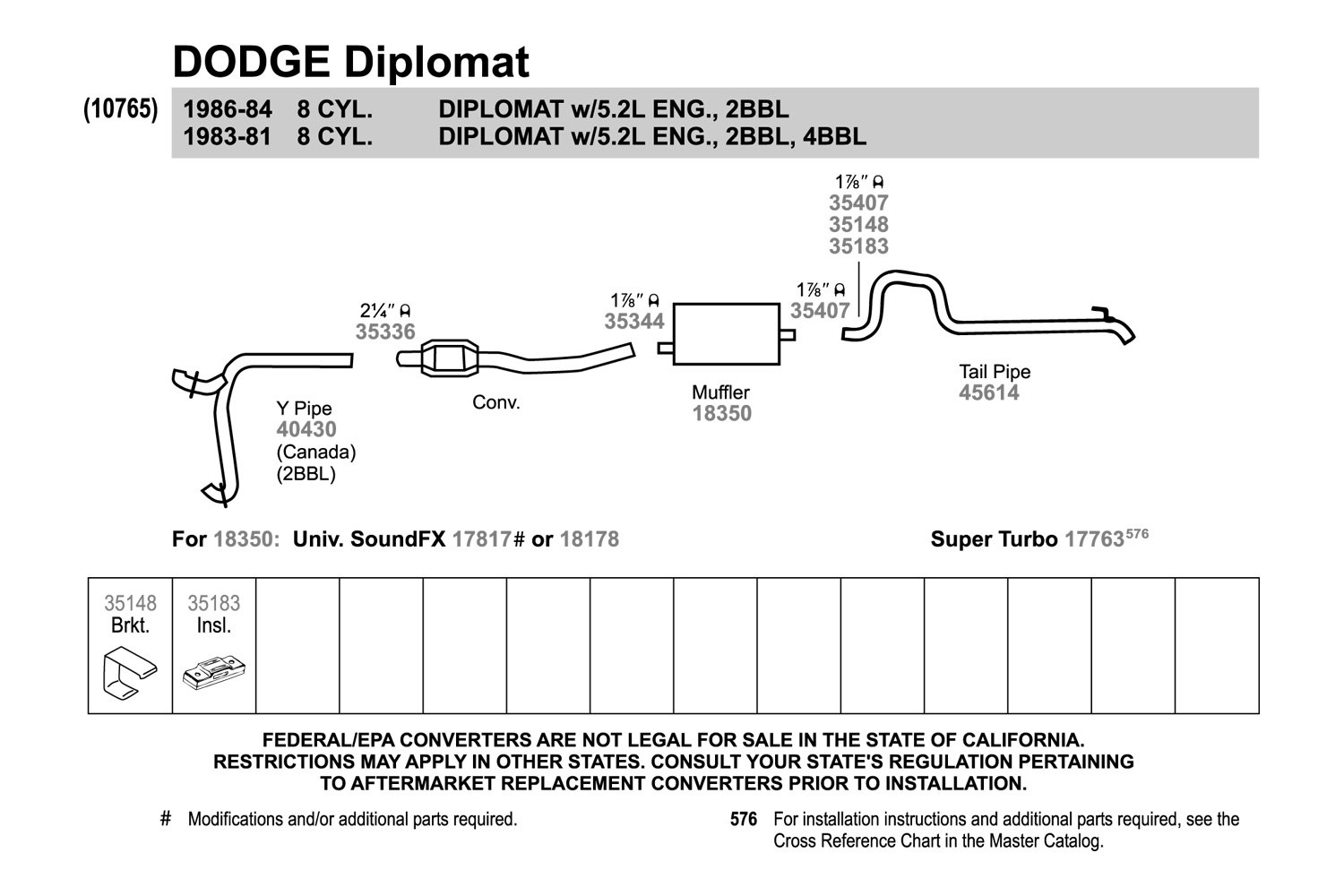 Walker® 40430 Aluminized Steel Exhaust Ypiperhcarid: 1983 Dodge Diplomat Wiring Diagram At Oscargp.net
