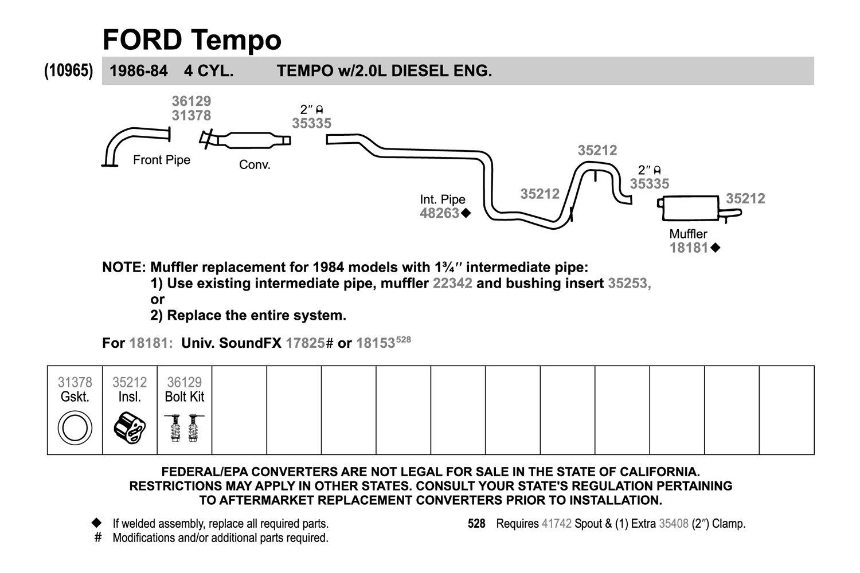 Walker 48263 Exhaust Intermediate Pipe