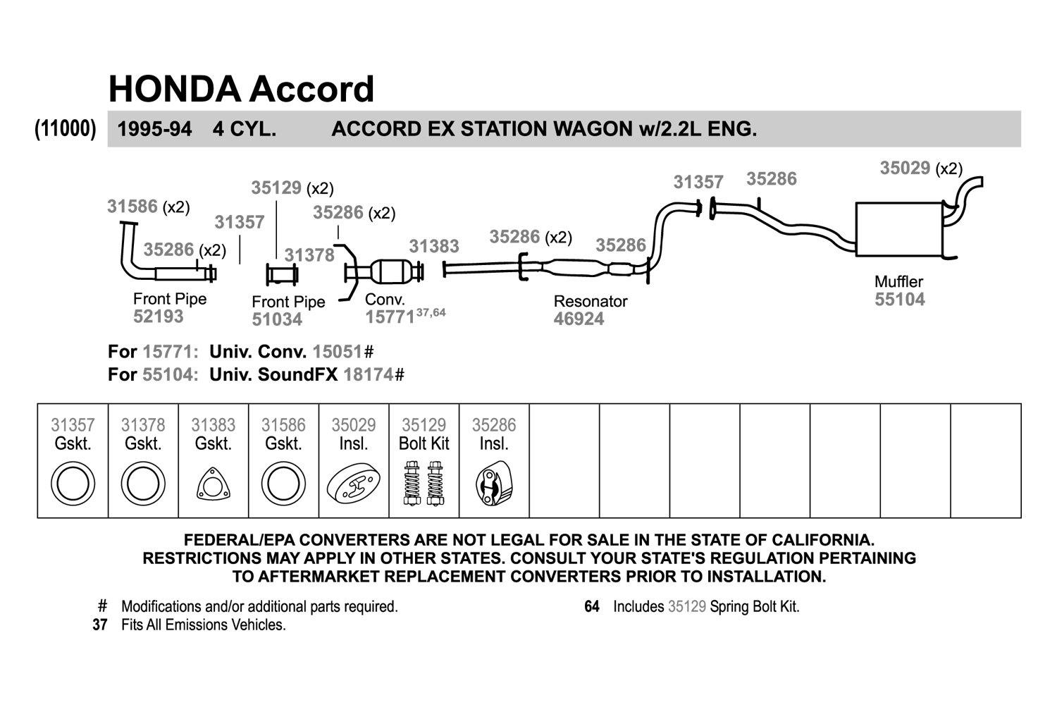 Walker 15051 Ultra Universal Fit Round Body Catalytic Converter 1983 Mitsubishi Mighty Max Parts Diagram