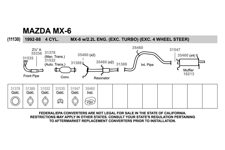 2007 ford probe exhaust diagram wire data schema \u2022 1989 ford taurus wiring diagram mazda mx6 exhaust diagram 25 wiring diagram images 1989 ford probe prope ford