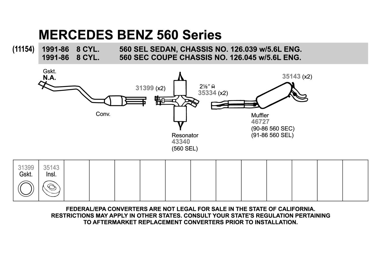 560sec exhaust diagram auto electrical wiring diagram \u2022 mitsubishi exhaust diagram walker 31399 high temperature graphite donut exhaust pipe flange rh carid com 1986 mercedes 560sec 1986 mercedes 560sec