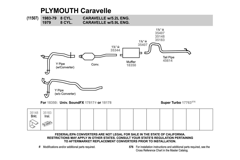 Exhaust Muffler-SoundFX Universal Muffler Right Walker 18178