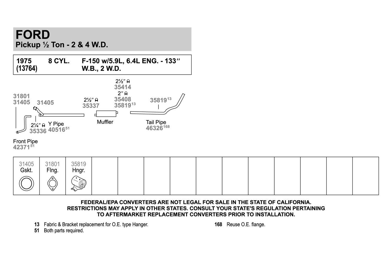 Exhaust Y Pipe Walker 40516